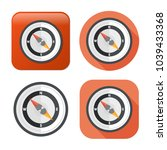 vector compass icon  ... | Shutterstock .eps vector #1039433368