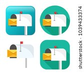 mail icon   vector email icon   ... | Shutterstock .eps vector #1039433374