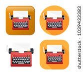 typewriter machine icon   type... | Shutterstock .eps vector #1039433383