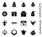 solid vector icon set  ... | Shutterstock .eps vector #1039435270