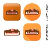 chocolate cake dessert icon  ... | Shutterstock .eps vector #1039435504