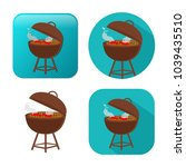 grill icon   vector barbecue... | Shutterstock .eps vector #1039435510