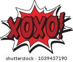 xoxo comic blast | Shutterstock .eps vector #1039437190