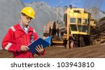 a foreman in a mining site ... | Shutterstock . vector #103943810