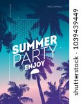 poster for summer and beach... | Shutterstock .eps vector #1039439449