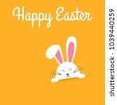 white easter rabbit. easter... | Shutterstock .eps vector #1039440259