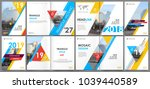 abstract white a4 brochure... | Shutterstock .eps vector #1039440589