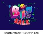 big sale promo poster | Shutterstock .eps vector #103944128