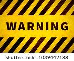 warning plate  old danger sign...   Shutterstock .eps vector #1039442188