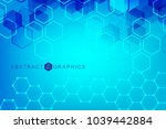 geometric abstract background... | Shutterstock .eps vector #1039442884