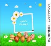 easter sale banner background... | Shutterstock .eps vector #1039444009