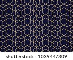 the geometric pattern with... | Shutterstock .eps vector #1039447309