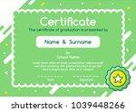 kids diploma certificate in... | Shutterstock .eps vector #1039448266