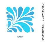 water wave logo abstract design.... | Shutterstock .eps vector #1039450450