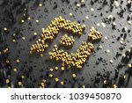 binance coin symbol. 3d...   Shutterstock . vector #1039450870