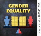 gender equality concept... | Shutterstock .eps vector #1039451353