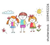 small children play and study.... | Shutterstock . vector #1039452226