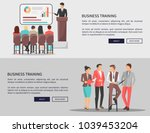 business training web posters...   Shutterstock .eps vector #1039453204