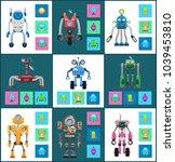 modern wireless robots with... | Shutterstock .eps vector #1039453810