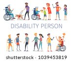 disability person poster with... | Shutterstock .eps vector #1039453819