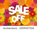 season sale off vector concept. ... | Shutterstock .eps vector #1039457326