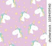 vector seamless pattern with... | Shutterstock .eps vector #1039459540