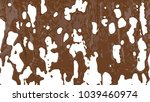 flowing molten chocolate. 3d... | Shutterstock . vector #1039460974