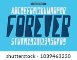 italic alphabet letters and... | Shutterstock .eps vector #1039463230