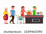 various flat people at the... | Shutterstock .eps vector #1039465390