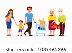 people at the supermarket... | Shutterstock .eps vector #1039465396