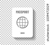 passport  simple icon. white... | Shutterstock .eps vector #1039472029