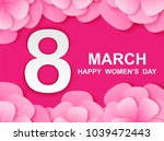 8 march. happy woman's day.... | Shutterstock .eps vector #1039472443