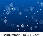 white snowflake macro vector... | Shutterstock .eps vector #1039472524