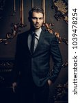 imposing well dressed man in a...   Shutterstock . vector #1039478254