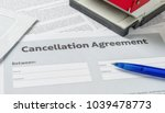 a cancellation agreement with a ... | Shutterstock . vector #1039478773
