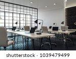 modern coworking office... | Shutterstock . vector #1039479499