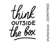 think outside the box.... | Shutterstock .eps vector #1039479820