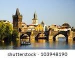 Charles Bridge In Prague At...