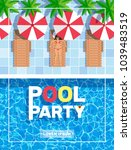 pool party vertical poster...   Shutterstock .eps vector #1039483519