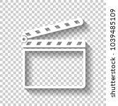 film clap board cinema open...