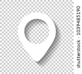 map label icon. white icon with ... | Shutterstock .eps vector #1039485190