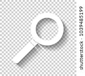 magnifying glass icon. white... | Shutterstock .eps vector #1039485199