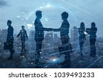 silhouettes of group of... | Shutterstock . vector #1039493233
