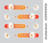 four step infographic chart or... | Shutterstock .eps vector #1039493920