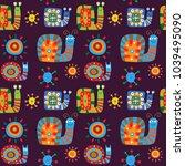 cute children's pattern with... | Shutterstock . vector #1039495090