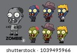 zombie character cartoon style...