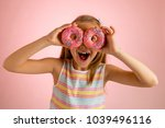 young beautiful happy and... | Shutterstock . vector #1039496116