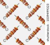 seamless pattern of shish... | Shutterstock .eps vector #1039499323