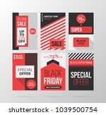 set of six black friday banners ... | Shutterstock .eps vector #1039500754