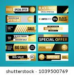 big set of black friday web... | Shutterstock .eps vector #1039500769